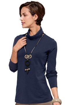 shirt met col blauw