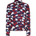 tommy hilfiger gewatteerde jas printed lw padded jacket met print all-over in de kenmerkende tommy-kleuren blauw
