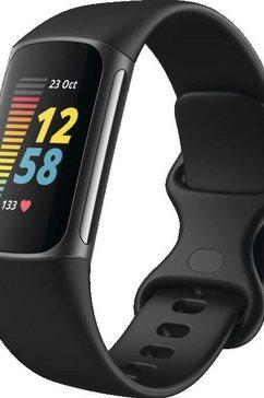 fitbit smartwatch charge 5 incl. 6 maanden fitbit premium zwart