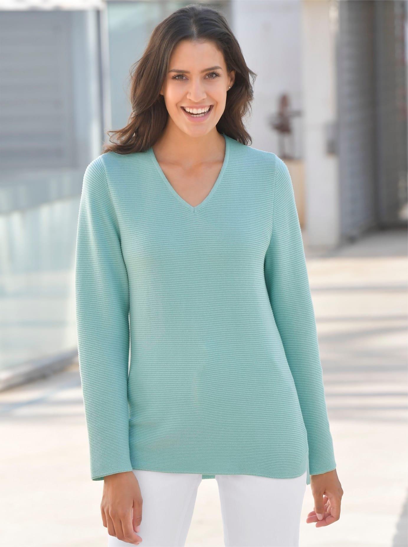 Casual Looks trui met V-hals Trui nu online bestellen