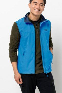 jack wolfskin softshell-bodywarmer activate vest men blauw