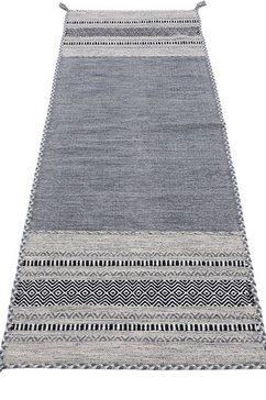 carpetfine loper »kelim azizi« grijs