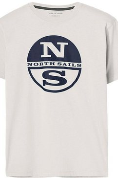north sails t-shirt met grote frontprint wit