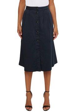 tommy hilfiger zomerrok co modern chino midi skirt met doorknoopsluiting blauw