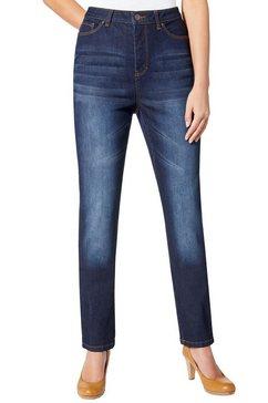 jeans met iets hogere taille blauw