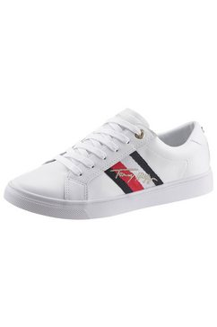 tommy hilfiger sneakers »th signature cupsole sneaker« wit