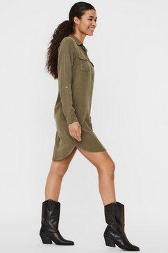 vero moda jeansjurk »silla« groen