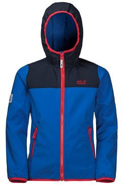 jack wolfskin softshell-jack »fourwinds jacket kids« blauw