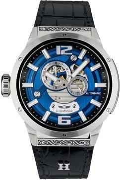 haemmer germany automatisch horloge »jet black, gg-100« blauw