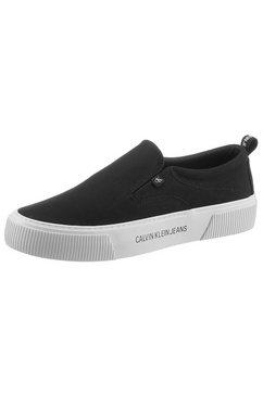 calvin klein sneakers logo-applicatie op de zool zwart