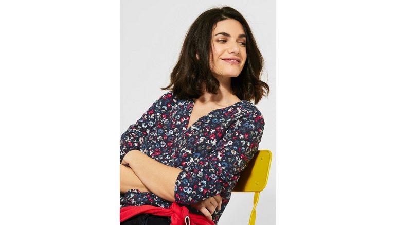 Cecil blouse met lange mouwen met bloemenprint