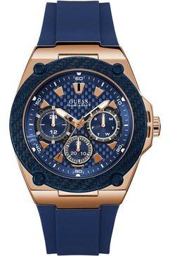 guess multifunctioneel horloge legacy, w1049g2 blauw