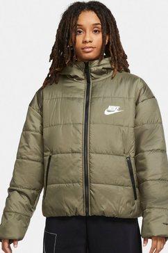 nike sportswear gewatteerde jas therma-fit repel classic series womans jacket groen