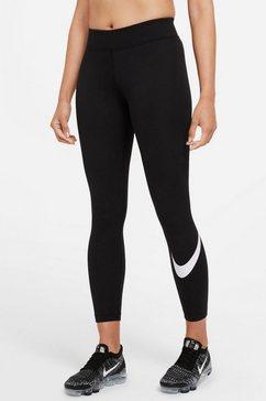 nike sportswear legging w nsw essnetial legging swoosh plus women in grote maten zwart
