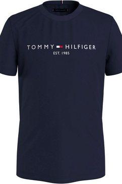 tommy hilfiger t-shirt »essential logo tee s-s« blauw