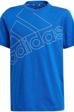 adidas performance t-shirt adidas boys essentials logo tee1 blauw
