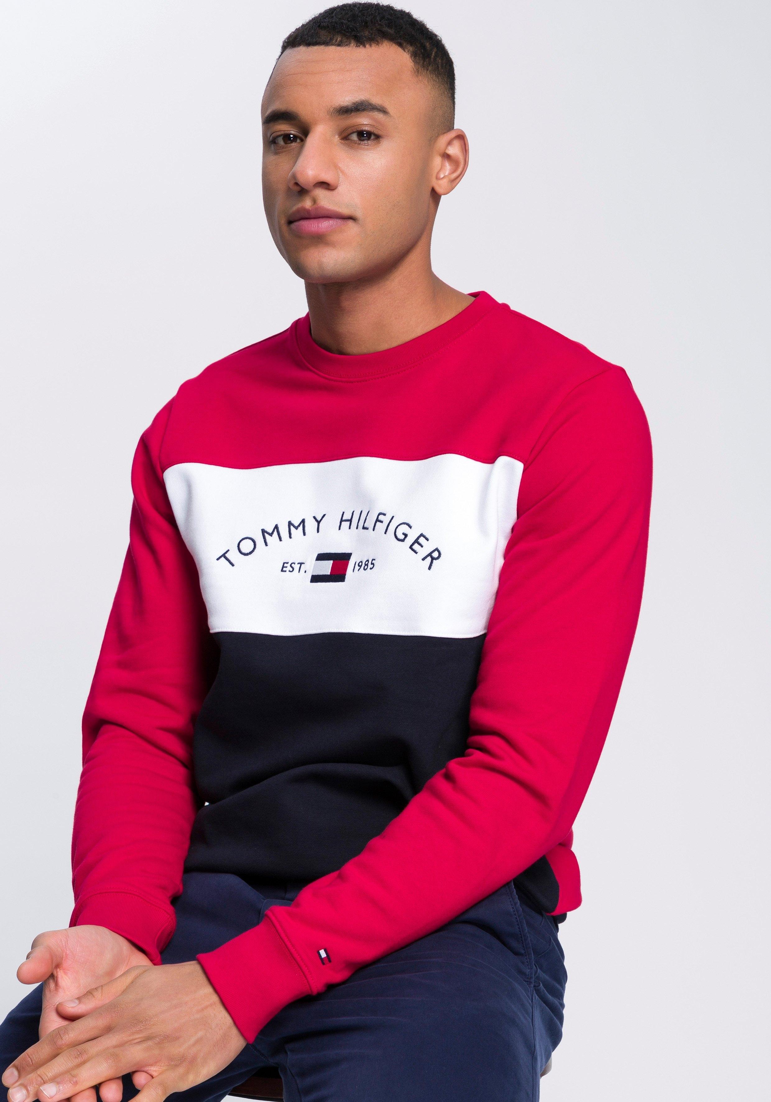 Tommy Hilfiger sweatshirt EMBROIDERED SIGNATURE CREWNECK nu online bestellen