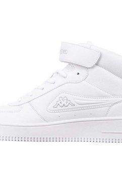 kappa sneakers bash mid in hightop-uitvoering wit