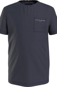 tommy hilfiger t-shirt met borstzak blauw