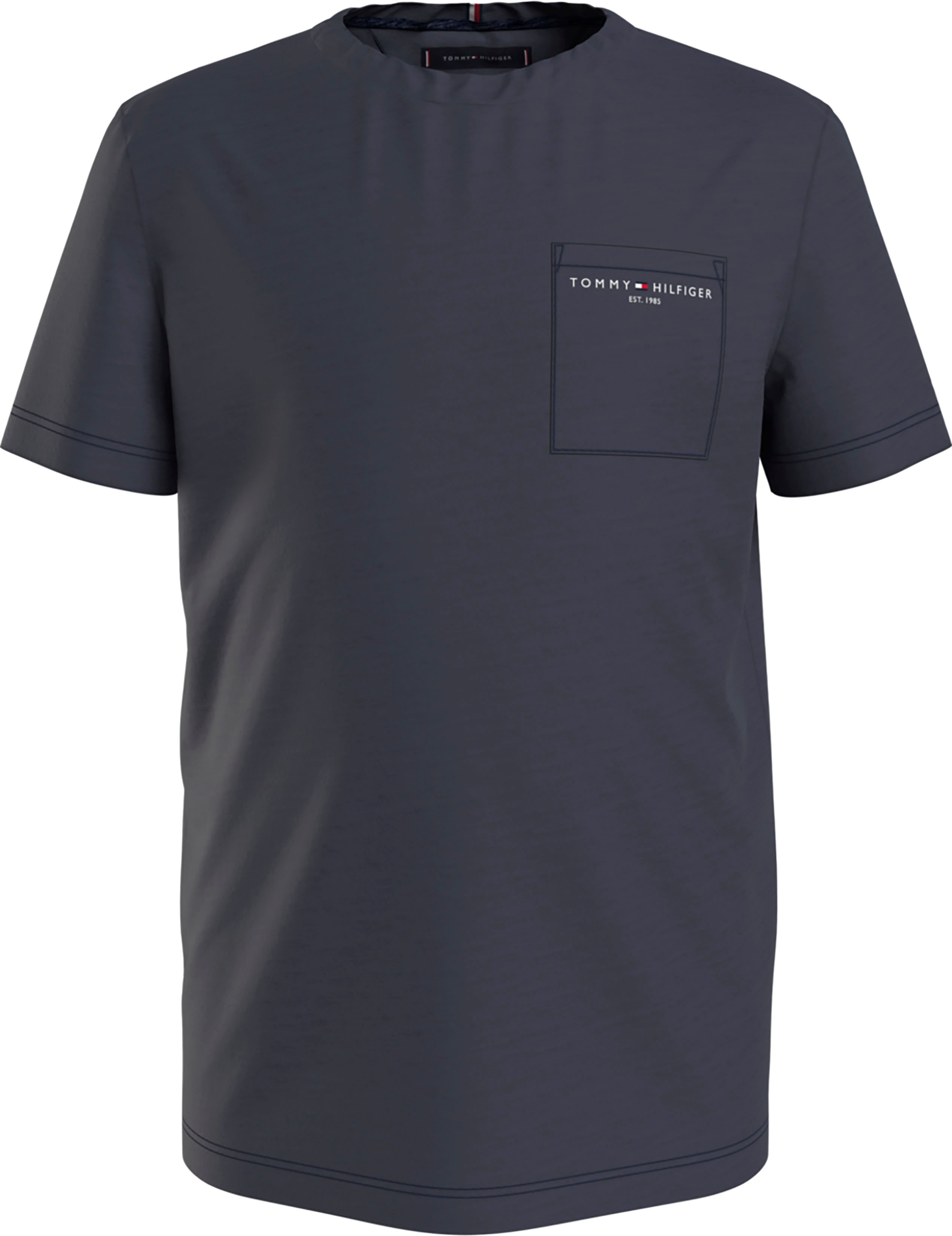 Tommy Hilfiger T-shirt Met borstzak nu online bestellen