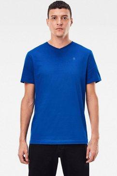 g-star raw shirt met v-hals »base-s« blauw