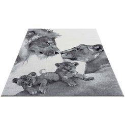 carpet city vloerkleed savanna 9369 vloerkleed voor de kinderkamer, laagpolig vloerkleed voor alle kamers grijs