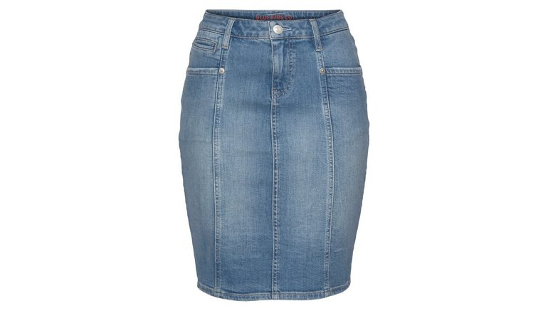 BLUE FIRE jeansrok LOU-BF met deelnaden en paspelzakje voor