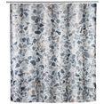 wenko douchegordijn terrazzo hoogte 200 cm, textiel (polyester) grijs