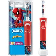 oral-b »kids spiderman« elektrische kindertandenborstel rood