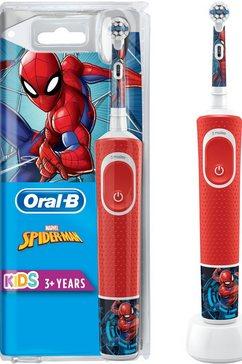oral-b »kids spiderman« elektrische kindertandenborstel rood