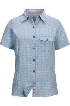 killtec overhemd met korte mouwen blauw