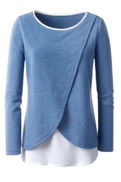 shirt in laagjes-look blauw