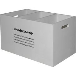 myflair moebel  accessoires opbergbox magari tijdschriftuitgave wit