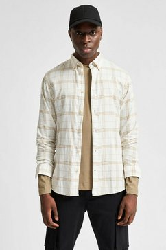selected homme geruit overhemd »slim flannel shirt« wit