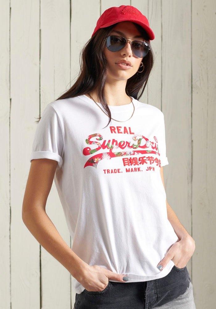 Superdry T-shirt Vintage Logo Infill T-Shirt met zomerse logoprint - gratis ruilen op otto.nl