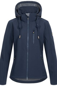 deproc active softshell-jack »peak creek women« blauw