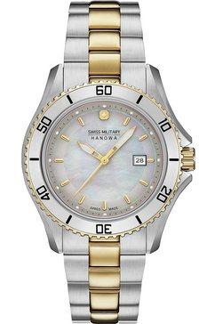 swiss military hanowa zwitsers horloge nautila pearl, 06-7296.7.55.009 zilver