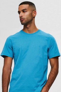 selected homme t-shirt »norman o-neck tee« blauw