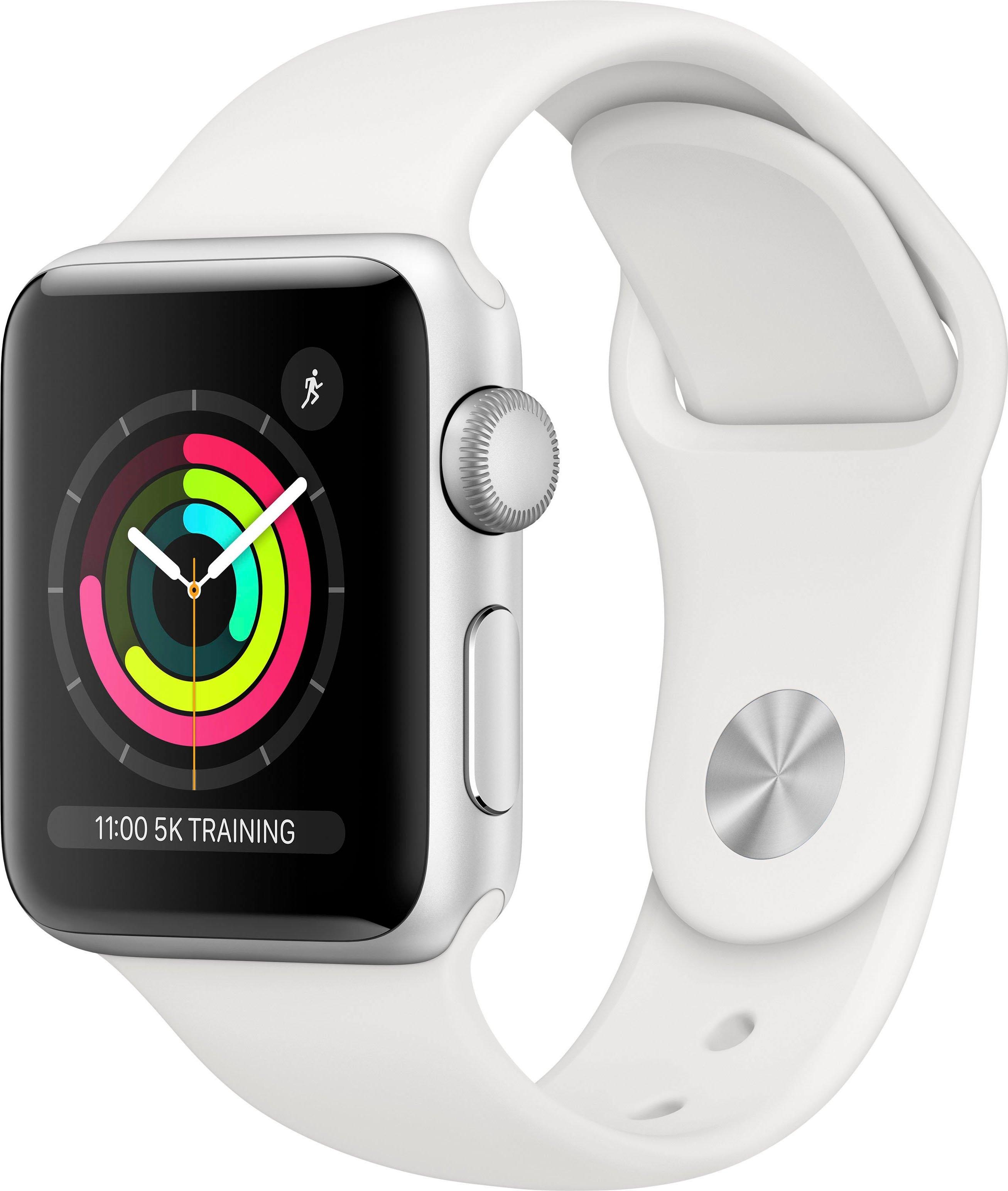 Apple Watch Series 3 gps, aluminium kast met sportbandje 38 mm inclusief oplaadstation (magnetische oplaadkabel) veilig op otto.nl kopen