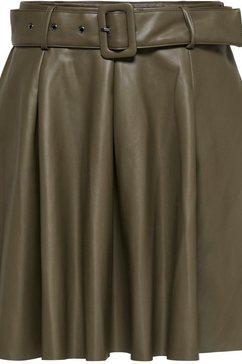 only imitatieleren rok onlsara faux leather short skirt groen