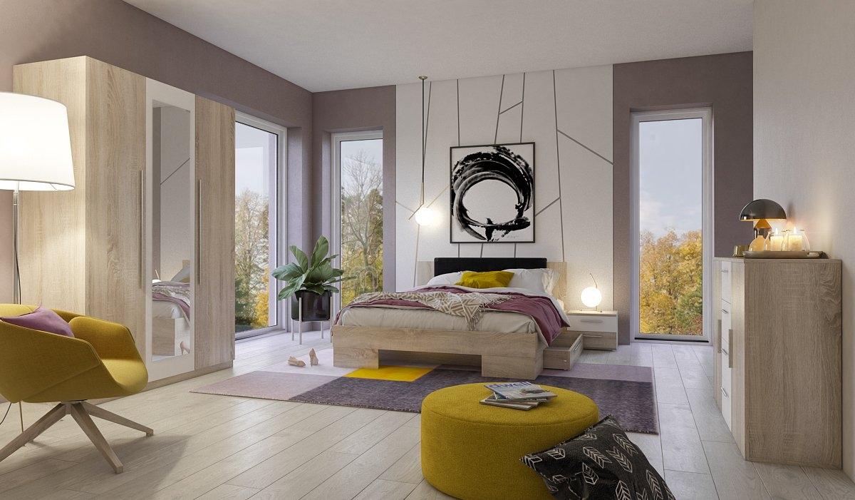 slaapkamerserie VERA (3 stuks) - verschillende betaalmethodes