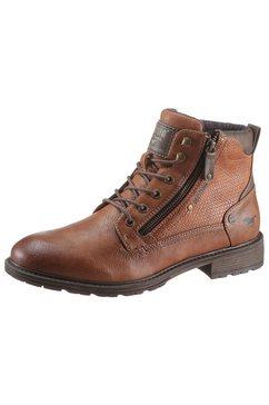 mustang shoes veterlaarzen met rits aan de buitenkant bruin