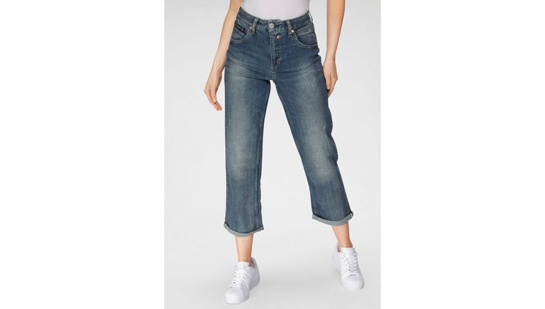 Herrlicher high-waist jeans TOUCH HI TAP RECYCLED DENIM