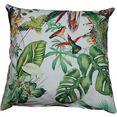 hossner - homecollection kussenovertrek junglekleur (1 stuk) multicolor