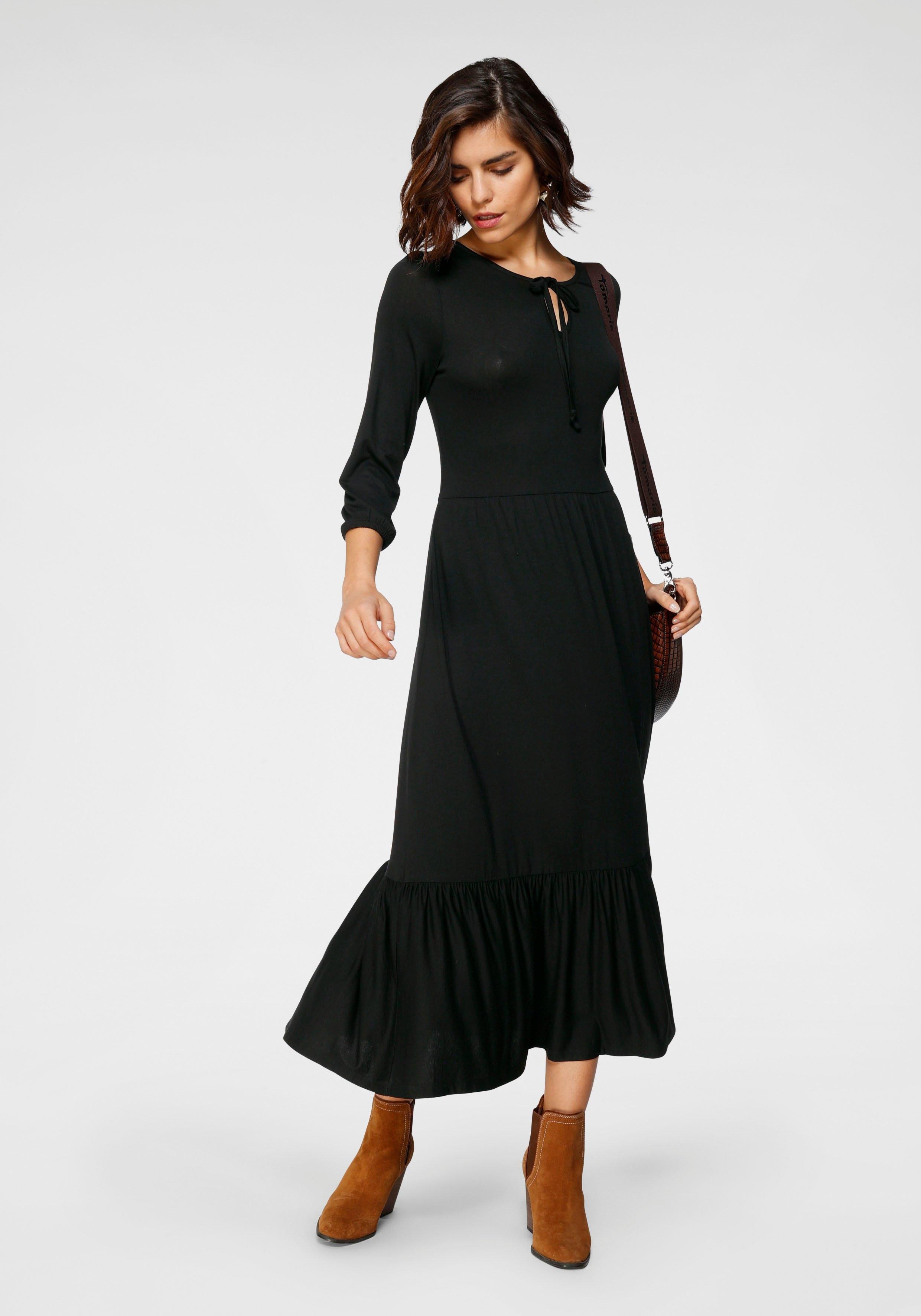Tamaris Midi-jurk comfortabele jersey nu online kopen bij OTTO