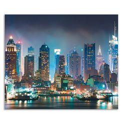 artland keukenwand new york city times square (1-delig) blauw