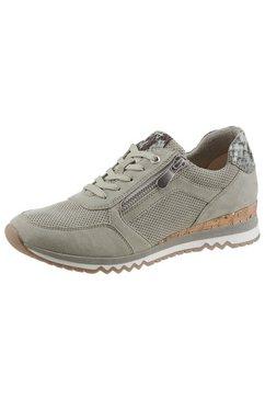 marco tozzi sneakers met metallic-details groen