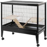 rohrschneider kooi voor kleine huisdieren zwart