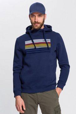 s.oliver hoodie met gekleurde frontprint blauw