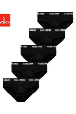 jack  jones slip zwarte logo-weefband (5 stuks) zwart